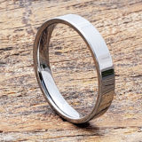 europa flat womens bridal tungsten rings