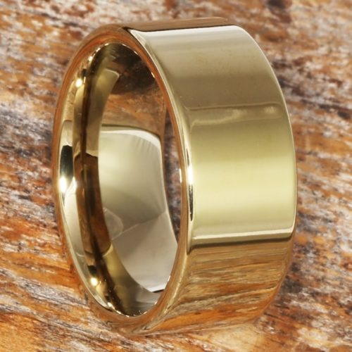 Europa Gold Classic Mens Tungsten Rings