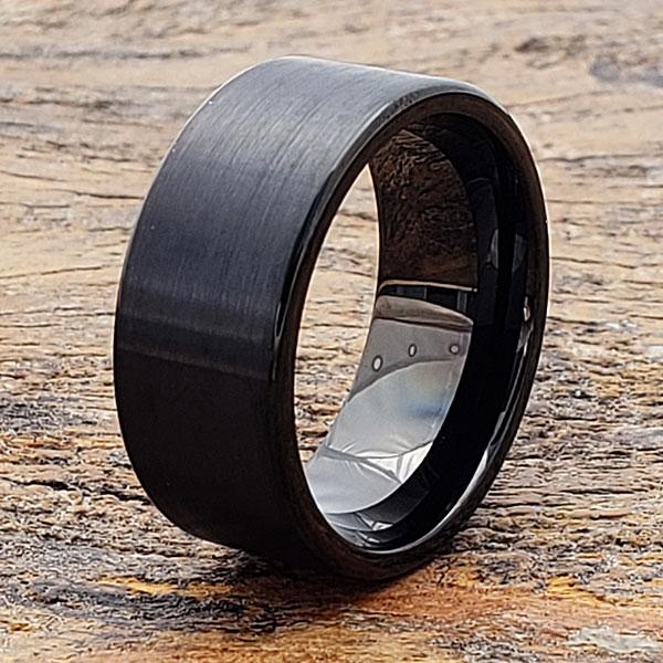 europa-rare-black-brushed-tungsten-ring