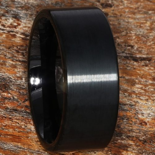 Europa Rare Black Brushed Tungsten Rings