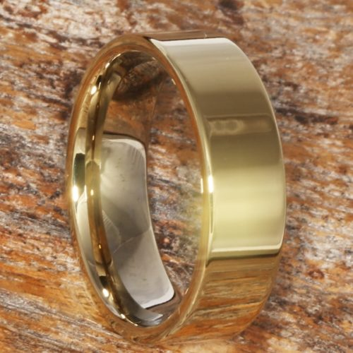 Europa Simple Gold Womens Tungsten Rings
