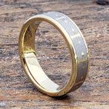 flat gold cross rings 6mm