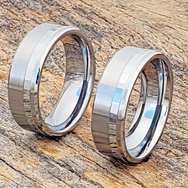 gemini-7mm-brushed-raised-facet-carved-rings