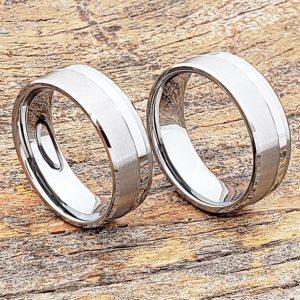 gemini-brushed-raised-facet-carved-rings