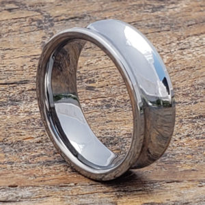 gorge contemporary tungsten wedding bands