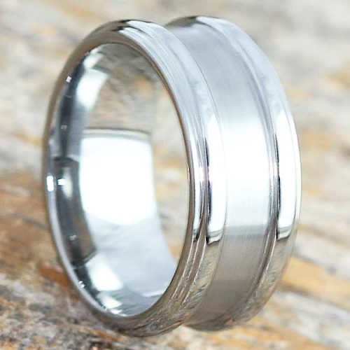 Gorgons Brushed Tungsten Wedding Bands