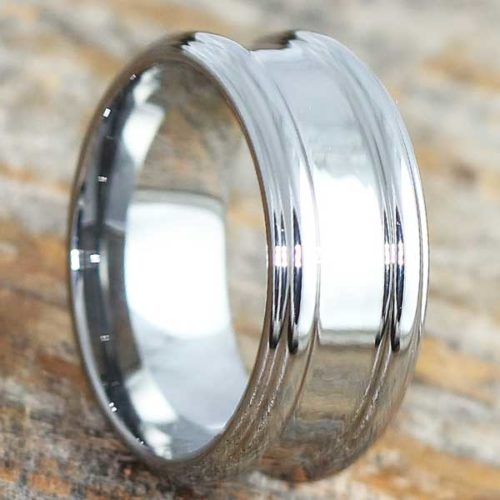 Gorgons Casual Womens Tungsten Rings
