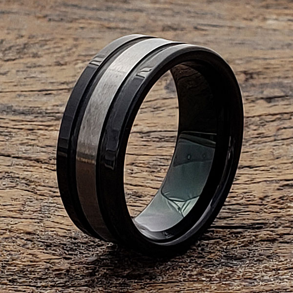 grooved-brushed-black-tungsten-ring