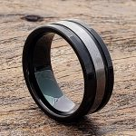 grooved-brushed-black-tungsten-rings