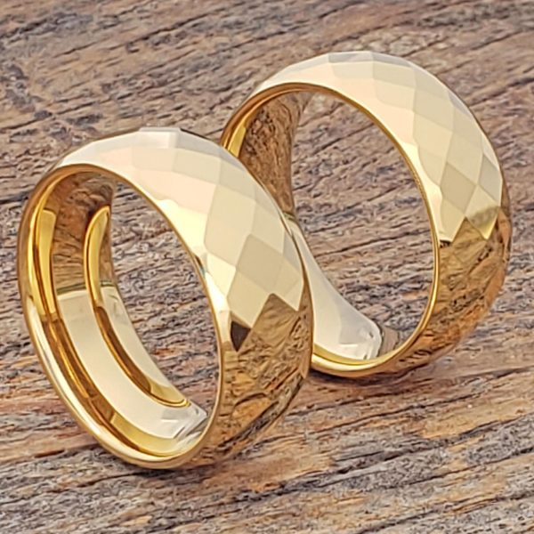 hades-men-gold-faceted-tungsten-rings