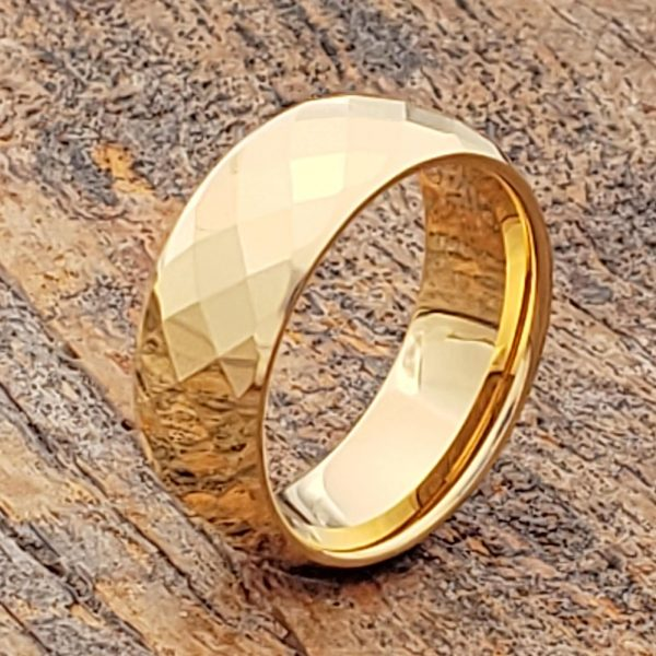 hades-mens-gold-faceted-tungsten-rings