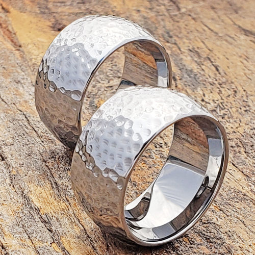 Hammered Statement Rings