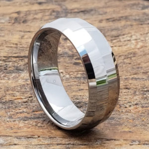 hand crafted tungsten wedding bands