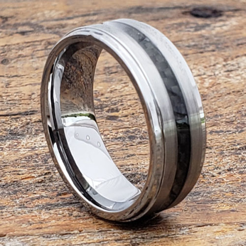 Hermes Brushed Black Carbon Fiber Rings