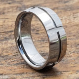 hyperion grooved mens carved rings