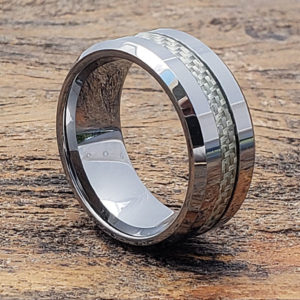 inlay white carbon fiber rings