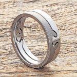 interlocking-brushed-6mm-puzzle-rings