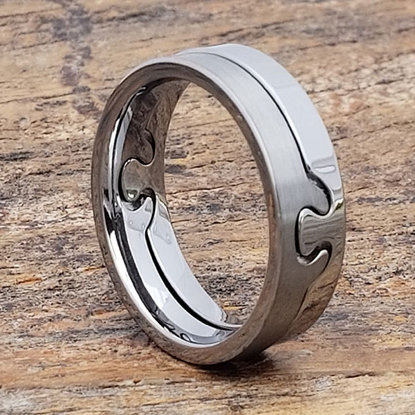 Interlocking Brushed Puzzle Rings Forever Metals