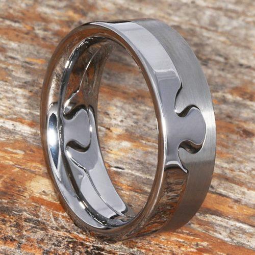 Interlocking Polished Puzzle Rings