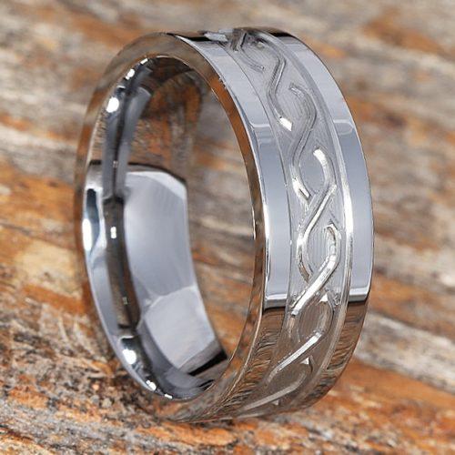 Jupiter Mens Carved Infinity Rings