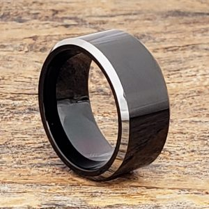 kana-silver-10mm-edges-black-tungsten-rings