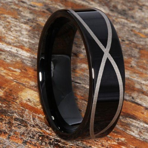 Krypton Black Promise Infinity Rings