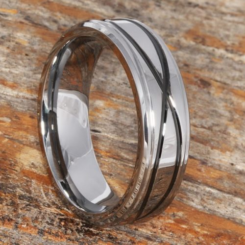 Krypton Mens Carved Symbol Infinity Rings