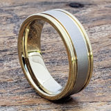 laser engraved gold tungsten rings