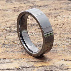 light black grey tungsten rings