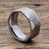 masculine faceted tungsten rings