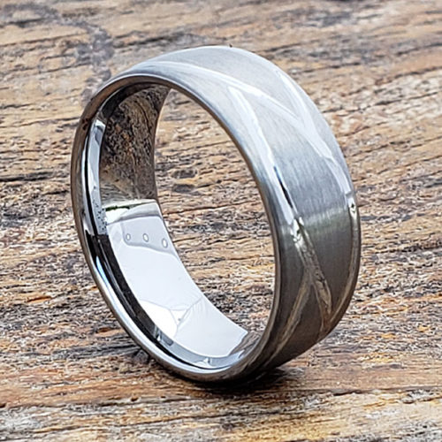 Caesar Mens Brushed Carved Rings