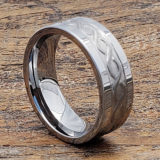 mens carved infinity rings