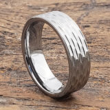 mens sculpted flat carved rings