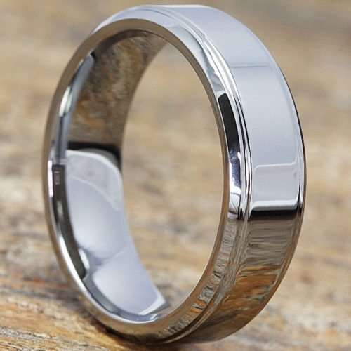 Mercury Polished Womens Tungsten Rings