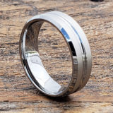 mica laser etched womens tungsten rings