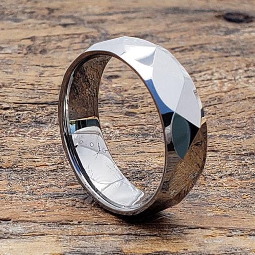 Apollo Multi Faceted Tungsten Rings