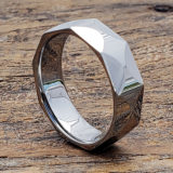 multi faceted tungsten rings