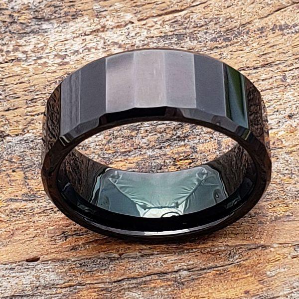 oblong-mens-black-facet-tungsten-ring