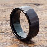 oblong-mens-black-faceted-tungsten-rings