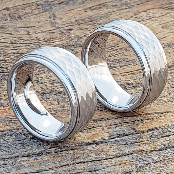 pantheon-9mm-hammered-white-tungsten-rings