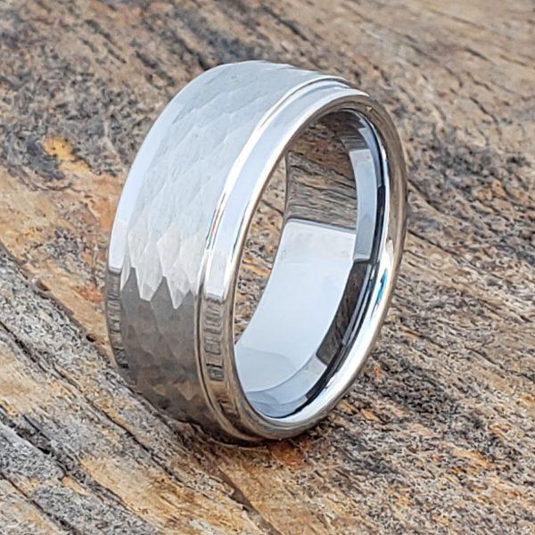 pantheon-hammered-9mm-white-tungsten-rings