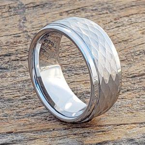pantheon-hammered-white-9mm-tungsten-rings