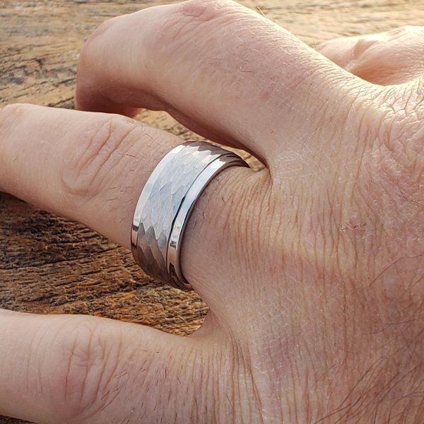 pantheon-hammered-white-tungsten-9mm-rings