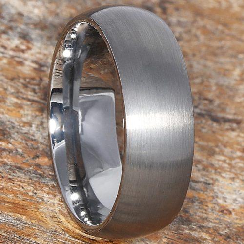 Pegasus Satin Brushed Tungsten Wedding Bands