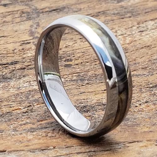 Regal Abalone Mens Inlay Shell Rings