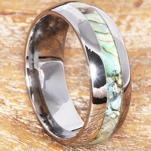 Regal Mens Inlay Abalone Shell Rings