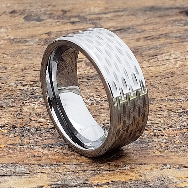 Cherokee Sculpted Mens Flat Carved Rings