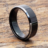 silver black tungsten rings