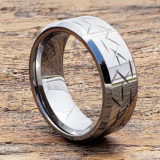 thorns polished mens beveled carved rings