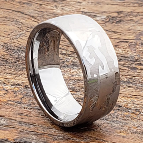 Tungsten Mens Camo Rings
